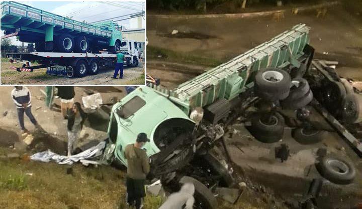 6 Caminhão recém restaurado é destruído em acidente com guincho, fnm, alfa, romeu, acidente, restaurado, guincho