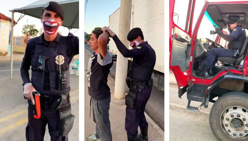 Vídeo mostra Guarda Municipal desrespeitando caminhoneiro em barreira sanitária