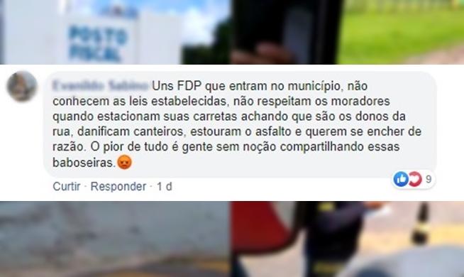 """Morador de Curuça-PA chama caminhoneiros de """"FDP"""" em resposta a vídeo de pedágio municipal"""