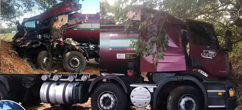 Caminhoneiro morre após colisão entre dois caminhões na BR 265