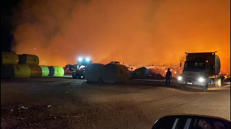 Incêndios de grandes proporções atingem fazendas de algodão no MT