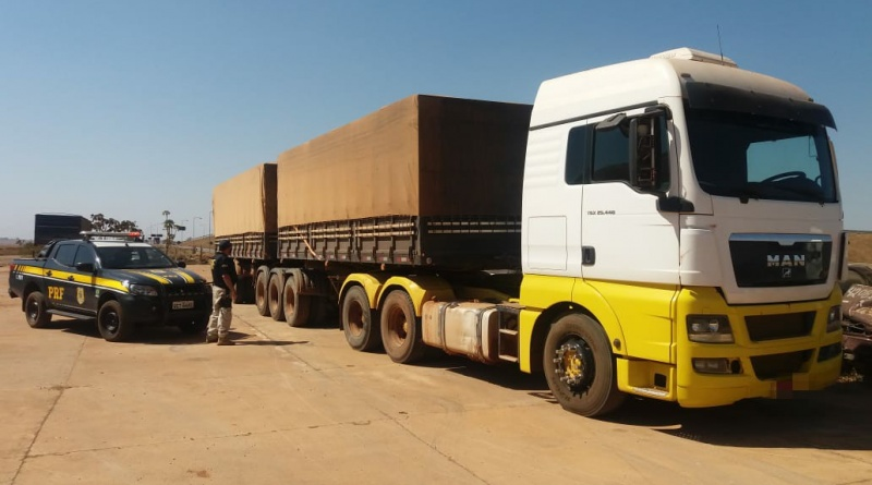 PRF apreende mais um Bitrem 9 eixos de transportadora adulterado no MT