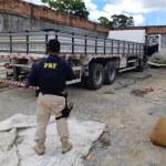 Caminhão roubado é encontrado em oficina mecânica em Nossa Senhora do Socorro/SE