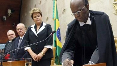 """Photo of Joaquim Barbosa no STF: """"tive a alegria de compor esta Corte"""""""