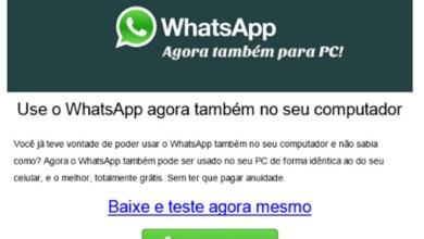 Photo of Mundo: Oferta de WhatsApp para PC é um vírus que rouba os dados bancários
