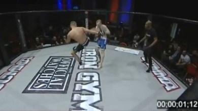 Photo of Vídeo: Lutador bate recorde ao nocautear adversário em um segundo