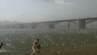 Photo of Vídeo: Tempestade de granizo surpreende banhistas em rio na Sibéria