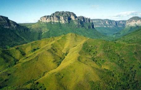 Vale do Pati, situado no centro do Parque Nacional da Chapada