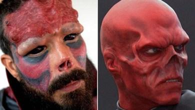 Photo of Mundo: Para parecer com vilão de 'Capitão América', homem tira até parte do nariz