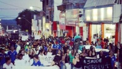 Photo of Manifestantes cobram ações na área de saúde no município de Ipirá