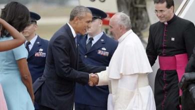 Photo of Papa chega aos Estados Unidos e é recebido pelo presidente Barack Obama