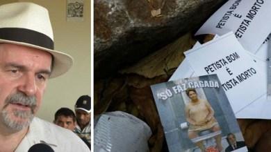 Photo of 'Petista bom é petista morto', diz panfleto atirado em local de velório de Dutra