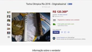 Photo of Brasil: Tocha olímpica é vendida por R$120 mil na internet