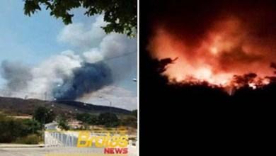 Photo of Chapada: Incêndio florestal atinge vegetação no município de Brotas de Macaúbas