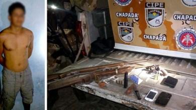 Photo of Bahia: PM apreende armas de fogo, carregador e munições em Oliveira dos Brejinhos