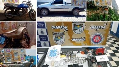 Photo of Operação da Cipe-Chapada prende criminosos, apreende armas e drogas em diferentes municípios