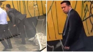 Photo of Vídeo em que homem chuta pessoa em situação de rua é publicado no New York Post