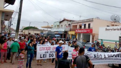 Photo of Chapada: Manifestantes vão às ruas de Barra da Estiva para protestar contra governo Temer