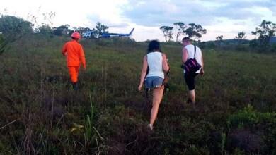 Photo of Lençóis: Casal é resgatado por grupamento aéreo na trilha da Cachoeira do Sossego