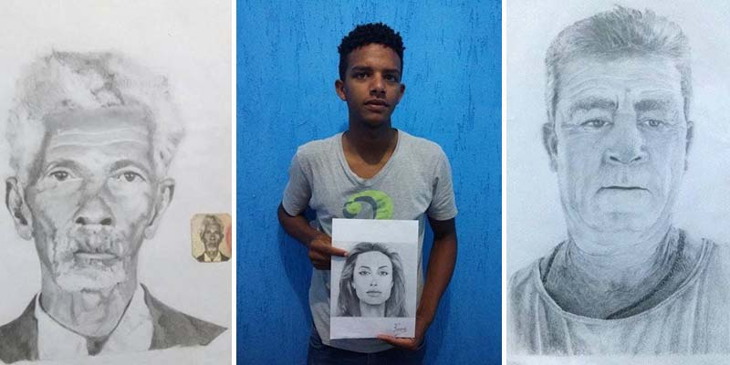 Chapada: Jovem do município de Piatã demonstra talento em desenhos à lápis