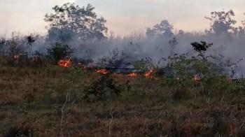Fogo na região de Morro do Chapéu - FOTO Jaime 2