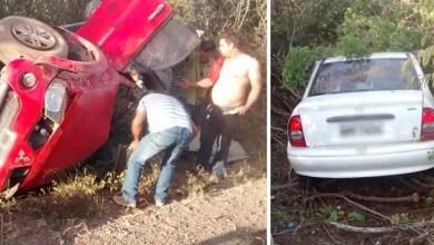Photo of Boninal: Policiais da Cipe-Chapada socorrem vítimas de acidente na BR 242; veja fotos