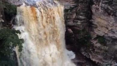 Photo of Chapada: Cachoeira do Buracão encanta ainda mais com o volume de água após as chuvas
