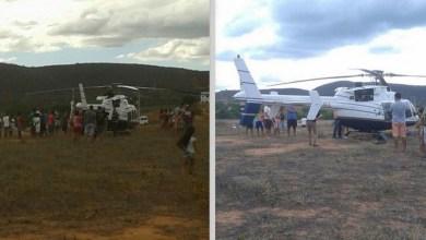 Photo of Chapada: Helicóptero sofre pane com quatro pessoas dentro e faz pouso forçado em Tanhaçu