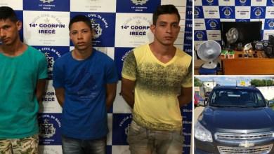 Photo of #Bahia: Polícia prende trio e recupera carro e objetos roubados no município de Irecê