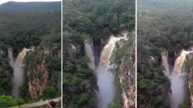 Photo of Chapada: Cachoeira do Mosquito impressiona turistas depois das fortes chuvas na região