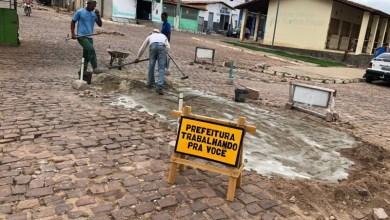 Photo of Chapada: Prefeitura de Itaetê realiza recuperação de calçamentos e de paisagismo na sede