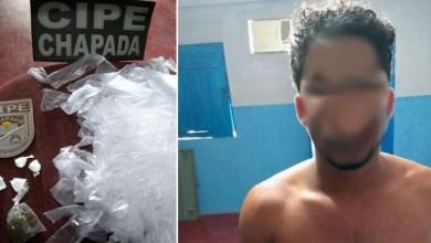 Photo of Chapada: Policiais da Cipe prendem suposto traficante de drogas no município de Utinga
