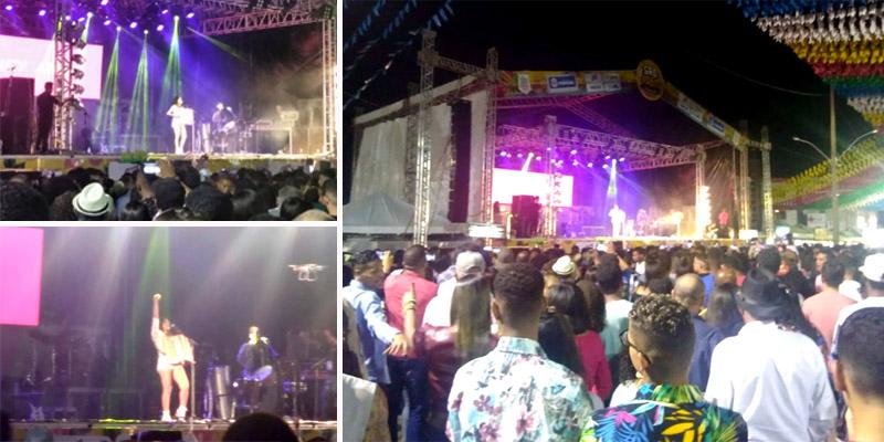 Chapada: Show de Lucy Alves mostra o lado eclético da artista e anima multidão nos festejos em Itaberaba
