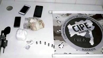 Photo of #Bahia: Suspeitos de tráfico de drogas são presos pela polícia na cidade de Caculé