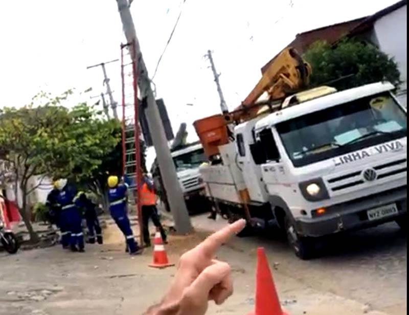 Chapada: Terceirizada da Coelba danifica rede de telefonia e prejudica empresários em Itaberaba