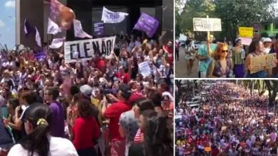 Photo of Mulheres e movimentos sociais protestam contra Bolsonaro em cidades da Chapada Diamantina