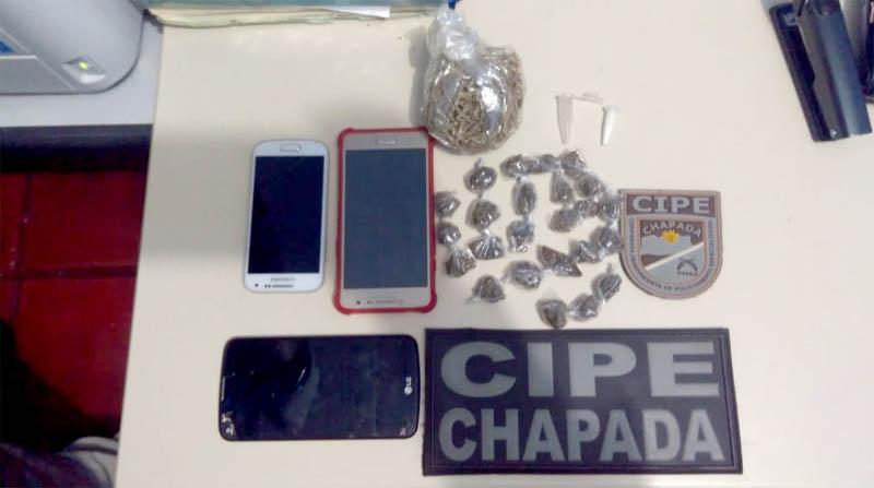 Chapada: Dois homens e um adolescente são encontrados com drogas em Iraquara