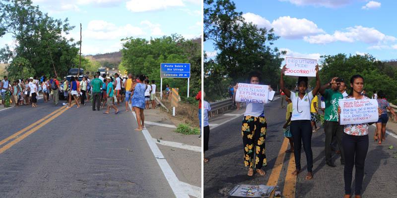 Chapada: Manifestantes fecham a BR-242 em favor do Rio Utinga pela sétima vez em dois anos