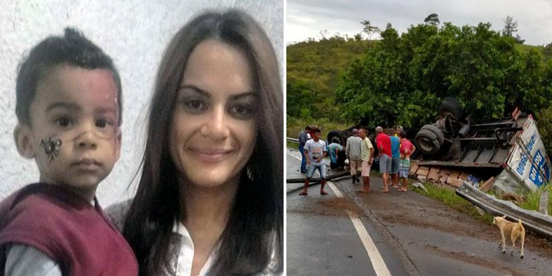 Chapada: Acidente em estrada do sul da Bahia mata mãe e filho naturais de Jacobina