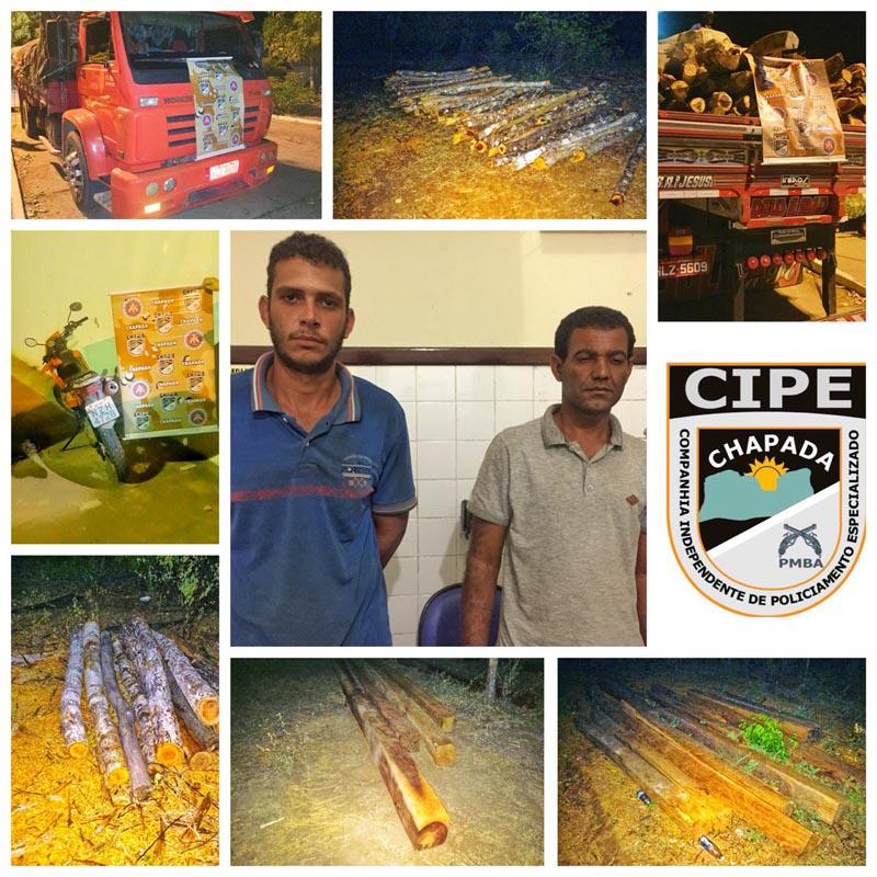Chapada: Polícia militar coíbe crime ambiental de extração ilegal e venda de madeira nativa em Iaçu
