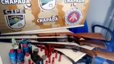 Photo of Chapada: Armas são apreendidas no distrito de Igatu em Andaraí após denúncia sobre homem que ameaçava moradores