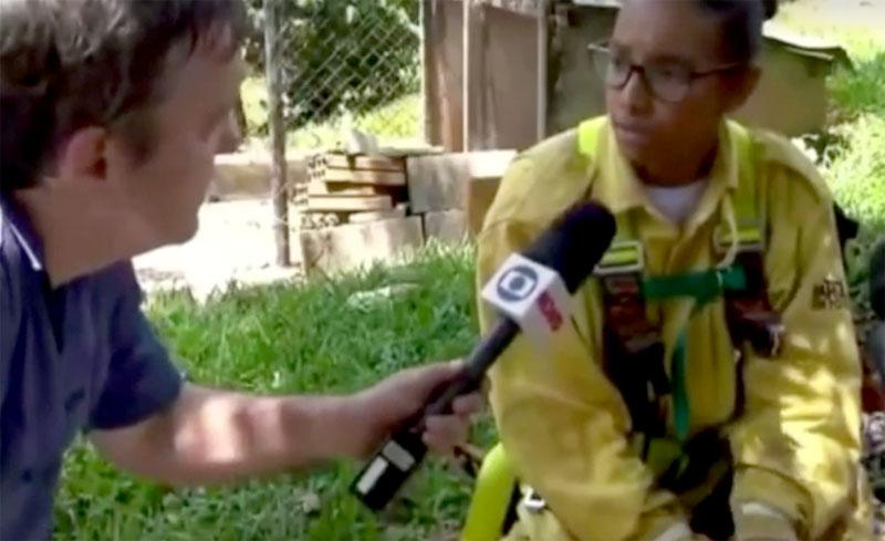 Chapada: Atuação de brigadistas de Seabra em Brumadinho é registrada em reportagem da Rede Globo; veja trecho de vídeo