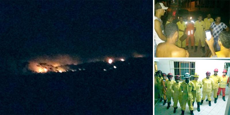 Chapada: Incêndio florestal em comunidade quilombola de Iraquara é apagado pela chuva; veja vídeos