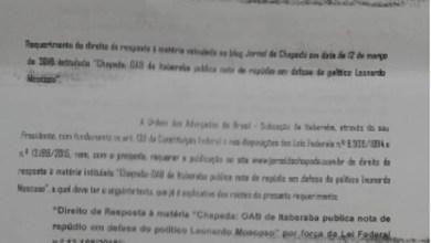Photo of Por força de liminar judicial, OAB de Itaberaba consegue direito de resposta
