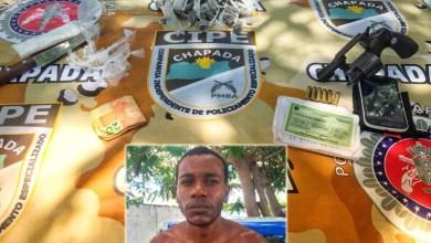 Photo of Chapada: Traficante é preso por policiais militares da Cipe no município de Ruy Barbosa