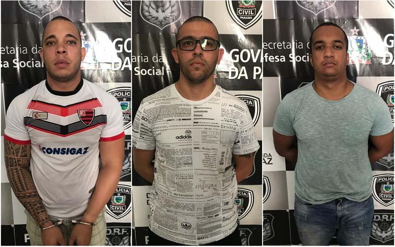 Presos na Paraíba policiais da Bahia suspeitos de sequestros de empresários, roubos e adulteração de veículos