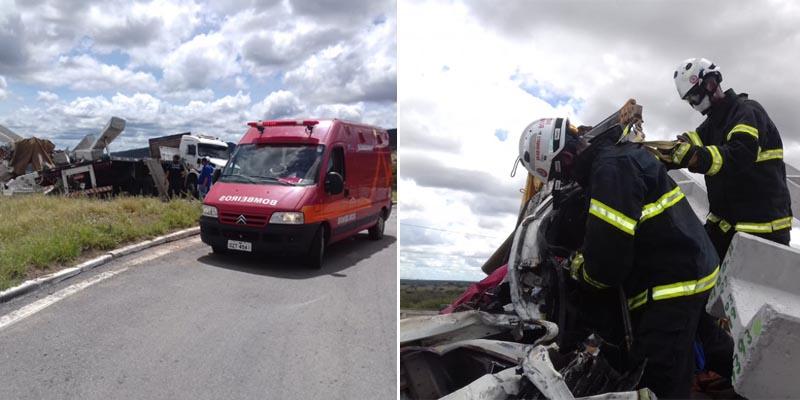 Chapada: Bombeiros resgatam vítima presa nas ferragens de veículo após acidente na região de Cafarnaum