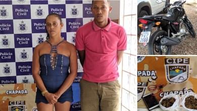 Photo of Chapada: Casal é preso em flagrante pela Cipe por tráfico de drogas no município de Ruy Barbosa