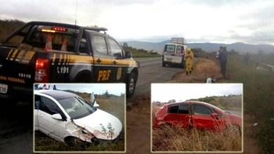 Photo of Chapada: Acidente com dois carros em trecho da BR-242 aciona brigadistas de Seabra; ninguém se feriu