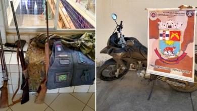 Photo of #Bahia: Armas, motocicleta e roupas camufladas são apreendidas pela polícia em Xique-Xique e Juazeiro